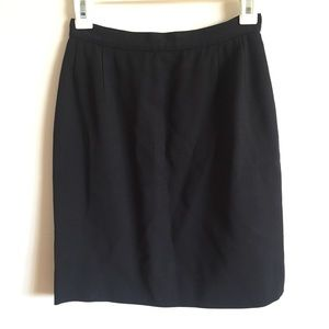 Salvatore Ferragamo Wool Black Pencil Skirt
